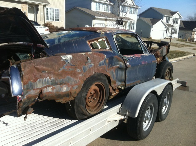 Rusting Mustangs » 1968 Mustang Fastback for sale06